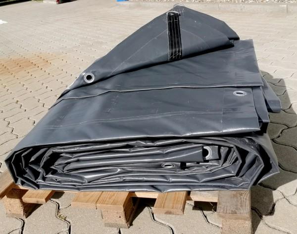 PVC-Plane 9 x 9 m - grau